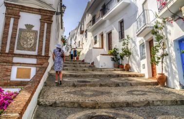 Steps along the picturesque, narrow streets of Frigiliana