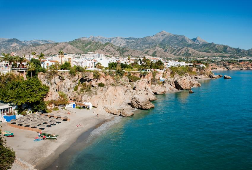Nerja's beaches are the epitome of the Costa del Sol