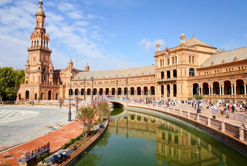 Plaza de España in Seville.