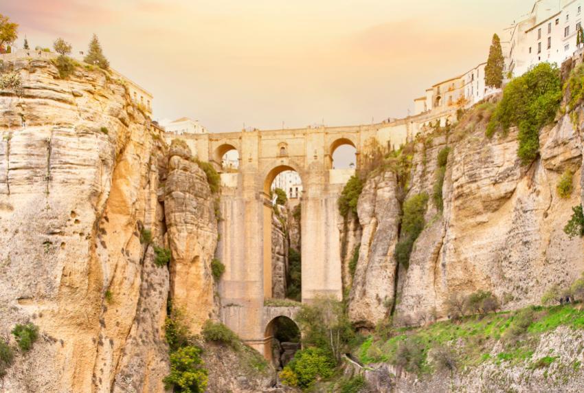 Puente Nuevo in the Ronda village.